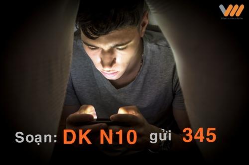 Đăng ký gói cước N10 Vietnamobile dùng 3G không giới hạn