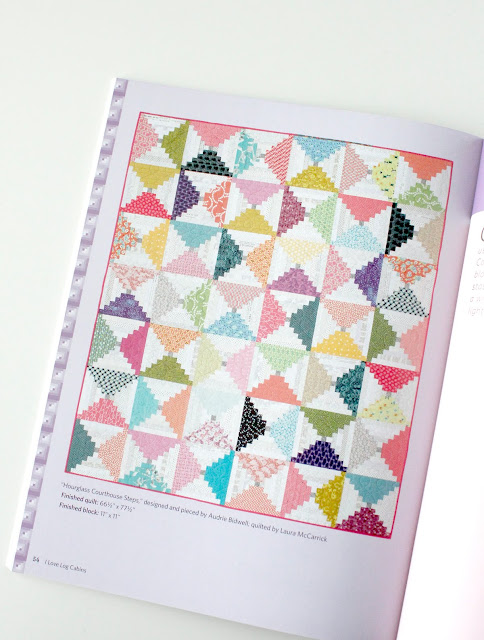 Hourglass Courthouse Steps quilt from the book I Love Log Cabins from Martingale