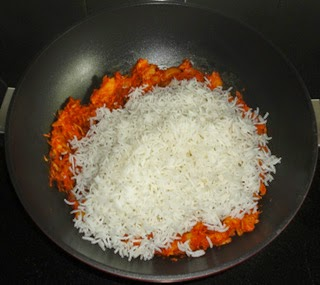 add the cooked rice
