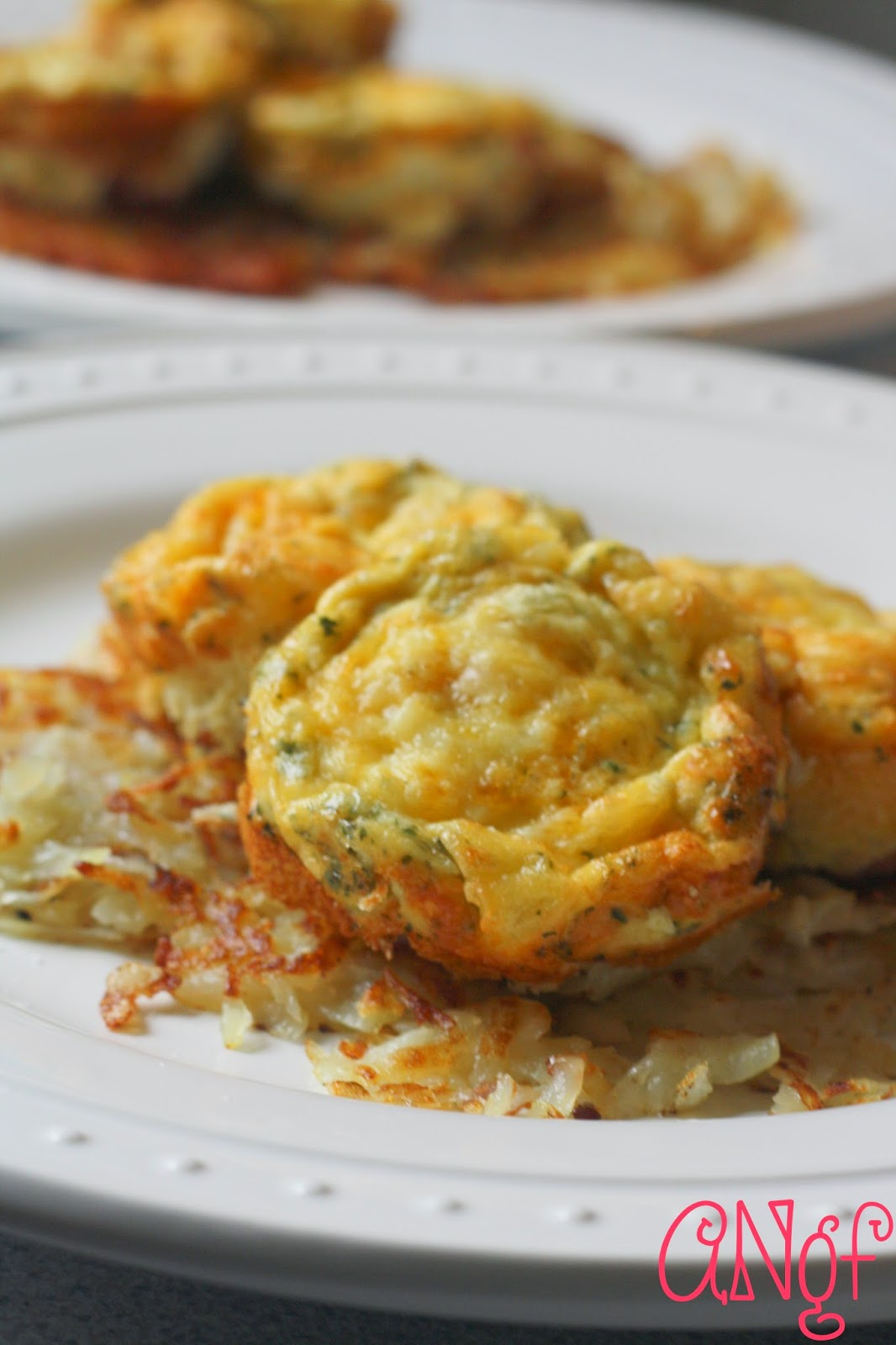 Frittatas Recipe with Coriander and Mexican Cheese served on hashbrowns from Anyonita-nibbles.co.uk