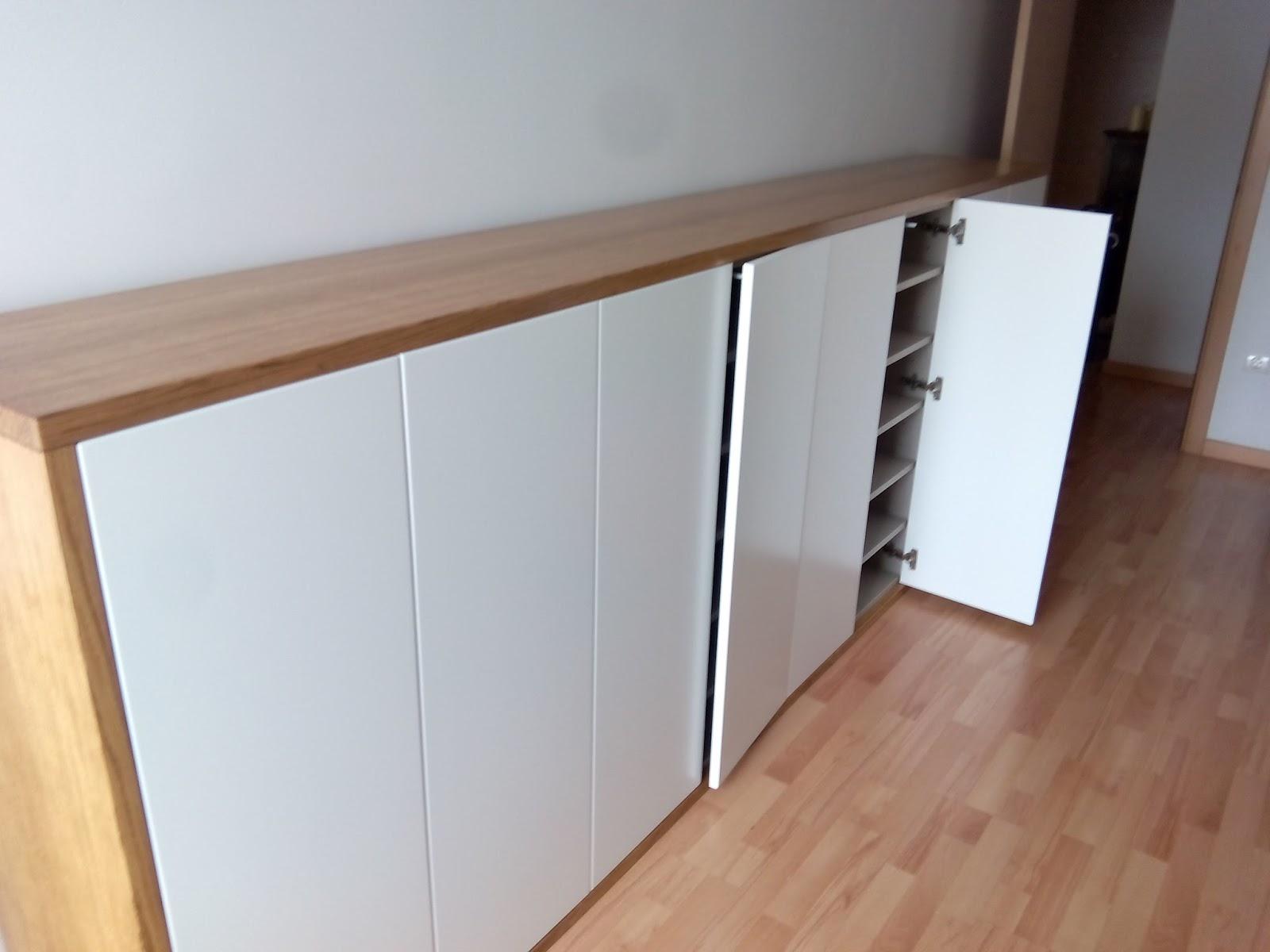 Mueble auxiliar en roble y lacado en blanco a medida muebles cansado zaragoza carpintero - Muebles a medida en zaragoza ...