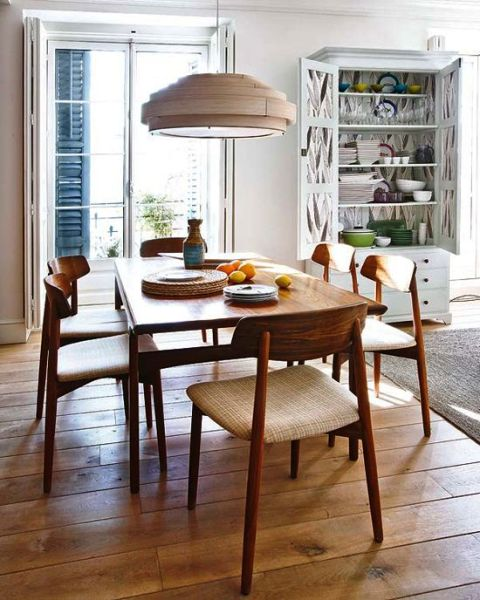 Meja kursi tamu makan dari kayu jati minimalis