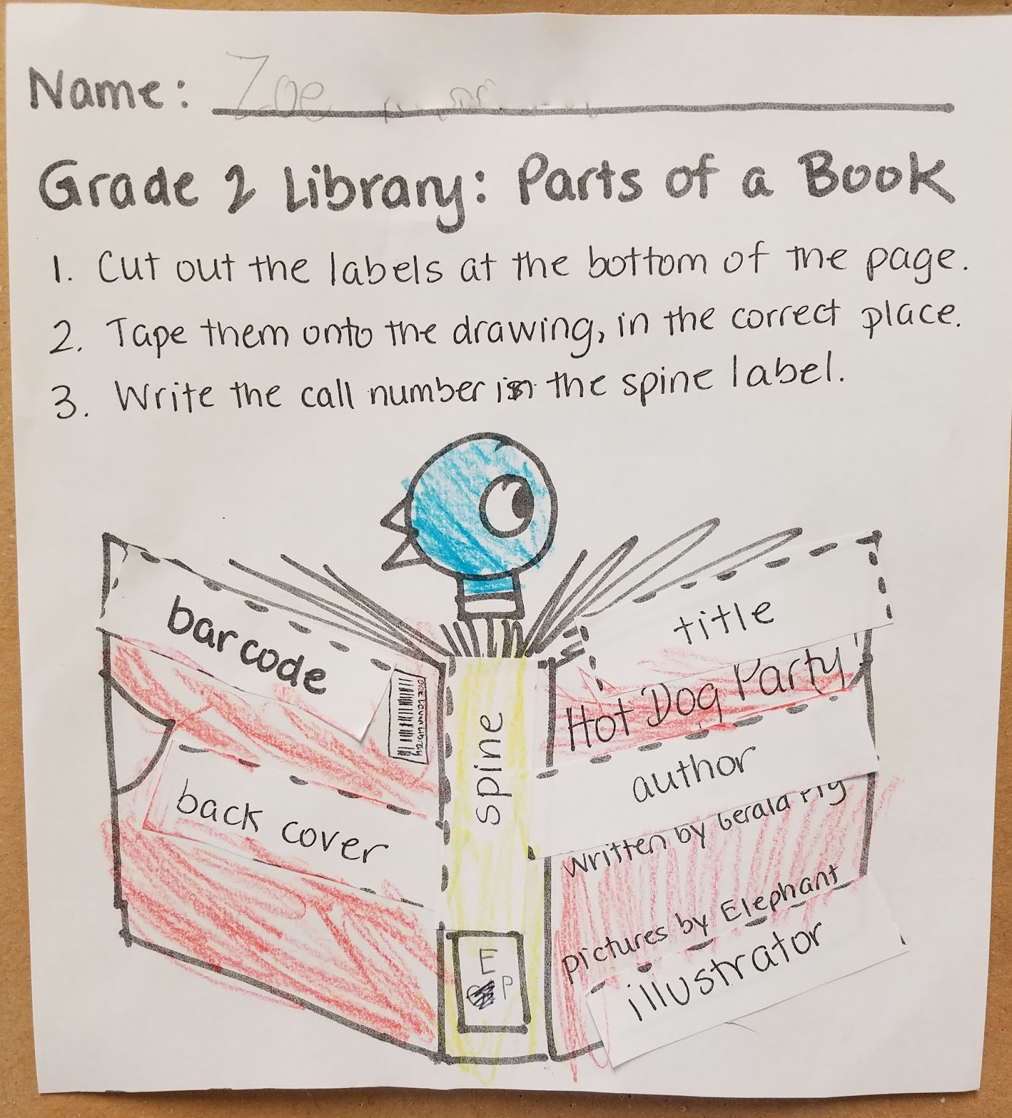 Garden City Library Goings On Labeling Book Parts With Room 2