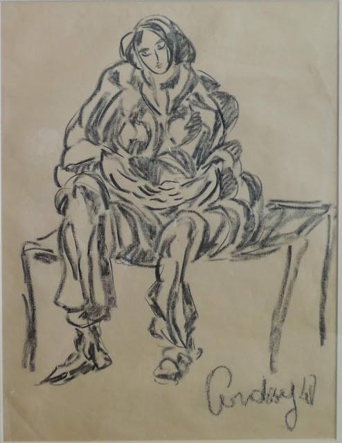Honorio García Condoy dibujo Figura