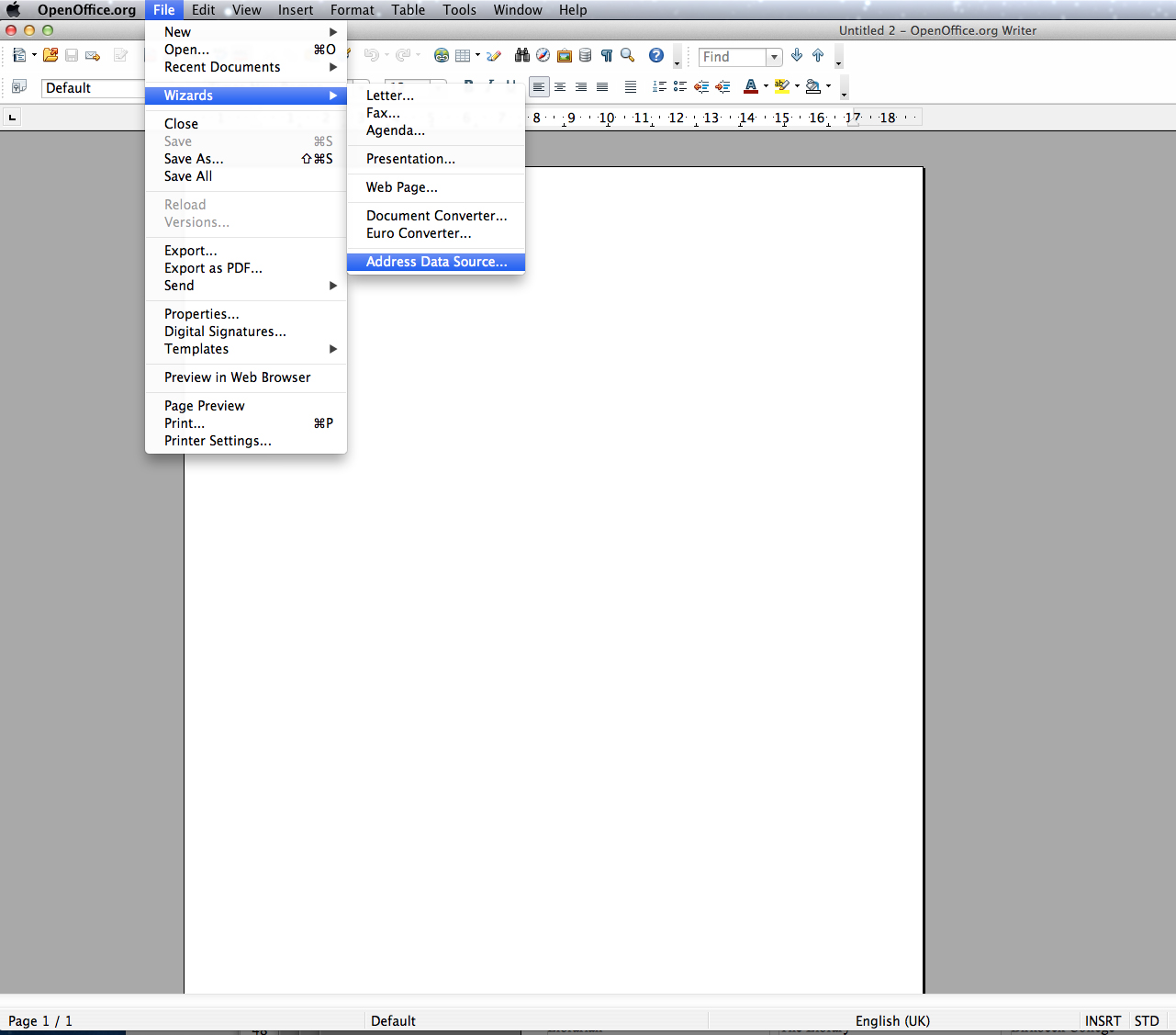 OpenOffice: How To Mail Merge Address Labels From An Excel