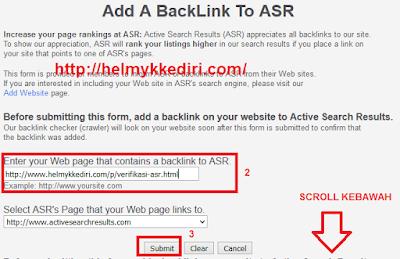 Mendapatkan backlink dari situs asr3
