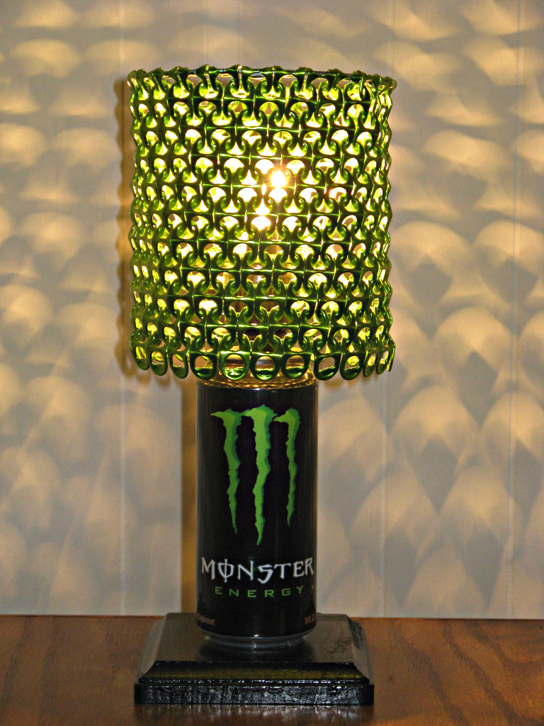 Monster Energy Can Lamp With Lime Green Anodized Tab
