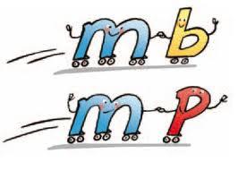 Resultado de imagen de M ANTES DE P Y B