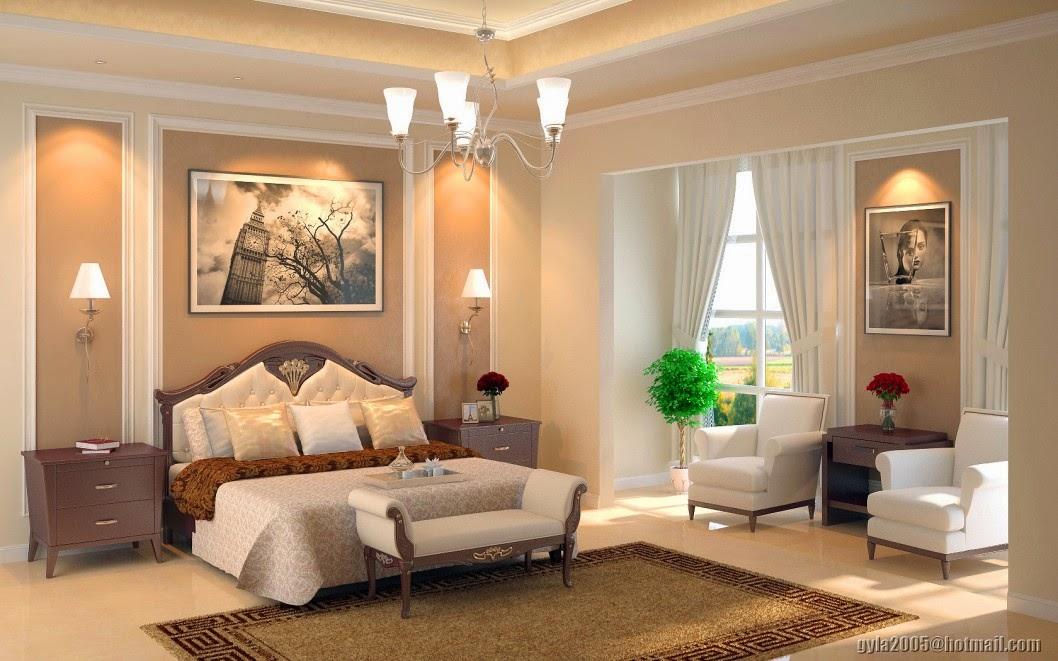 Plain Traditional Master Bedroom Interior Design Romantic Ideas