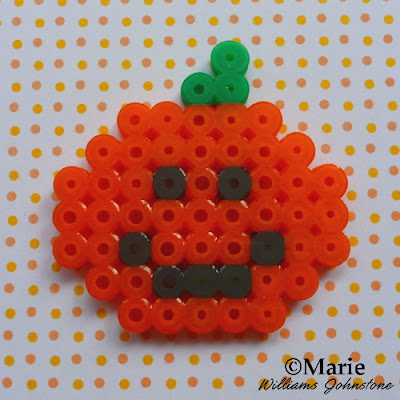 perler bead patterns halloween jack o lantern orange smiling pumpkin