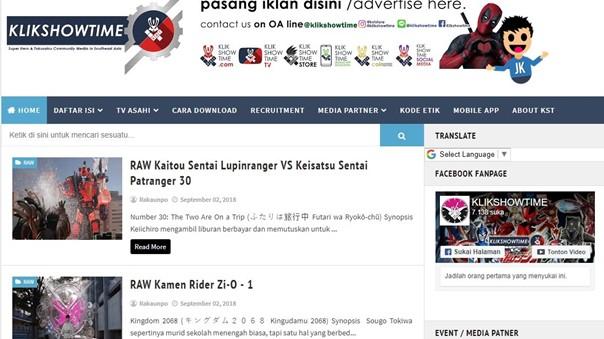KlikShowTime aja. Channel Youtube mereka juga punya, tentunya membahas tentang Superhero-superhero Japan.