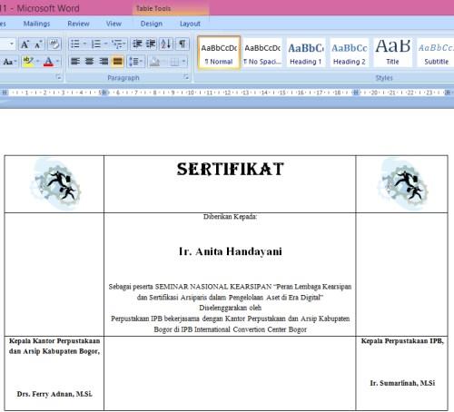 Cara Membuat Sertifikat Dengan Ms Word Mudah Dan Cepat
