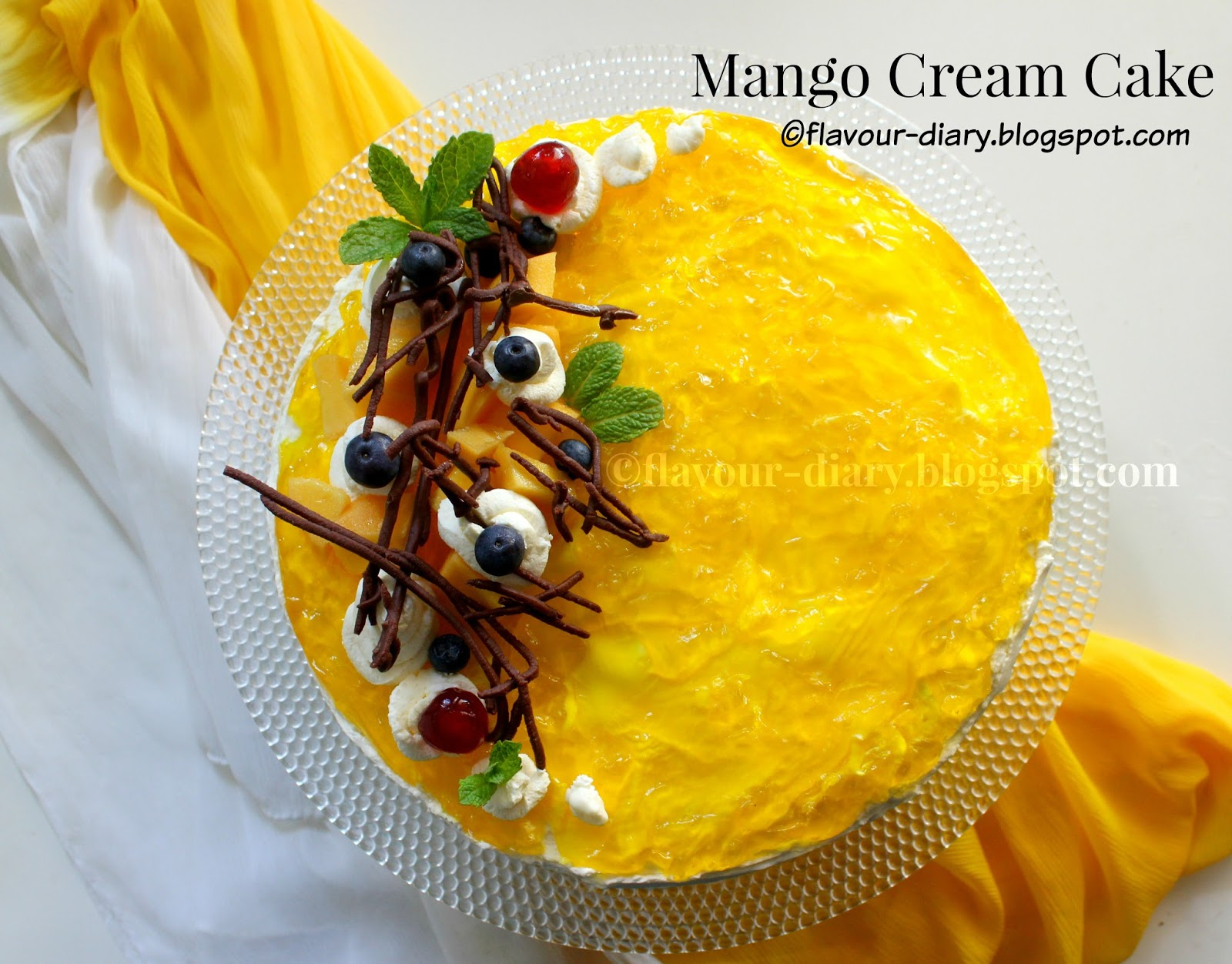 Mango cream Cake recipe