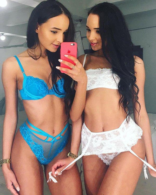Adelya e Alina estão aqui