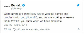 EA DOWN - Server Down latest for FIFA 18, Battlefield 1 and Star Wars Battlefront 2 here the solution