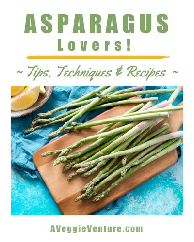Tired of same-old steamed asparagus? Find new inspiration in this collection of seasonal Asparagus Recipes ♥ AVeggieVenture.com, savory to sweet, salads to sides, soups to supper, simple to special. Many Weight Watchers, vegan, gluten-free, low-carb, paleo, whole30 recipes.