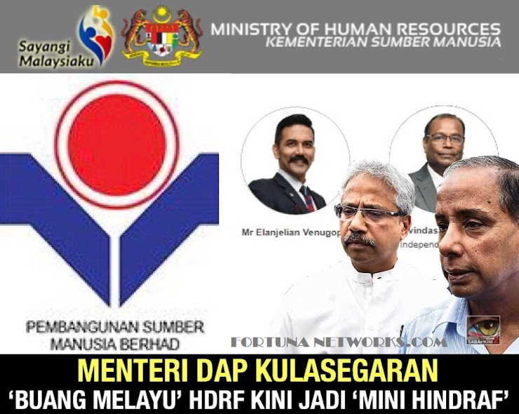Minister of DAP Kulasegaran Changes HRDF Agency Now Becomes Cage of Hindraf Members and 'Dispose of Malay Staff'