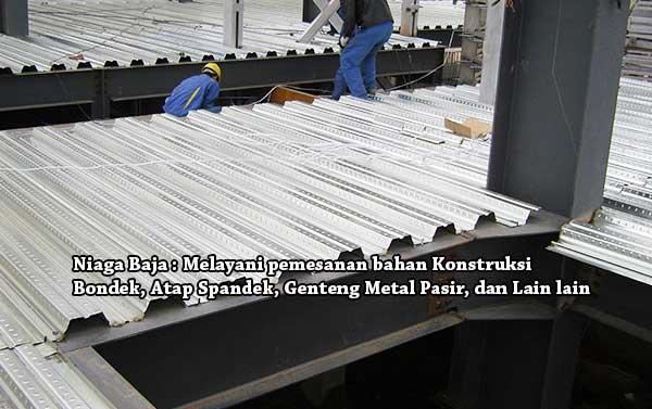 Cara memotong bondek plat lantai beton