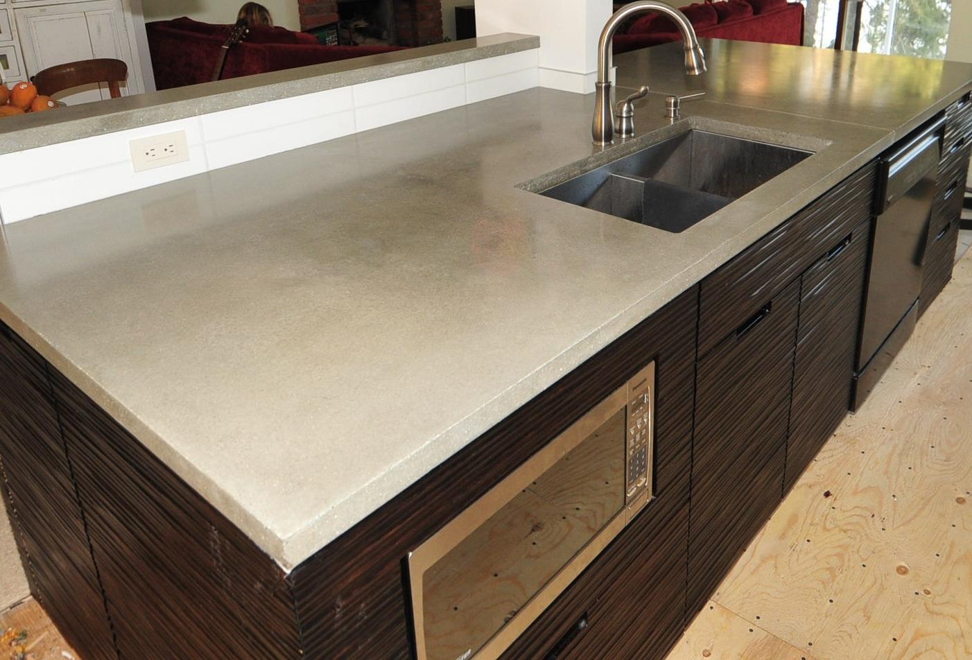 concrete countertops in modern kitchen modern kitchen countertops Ultra Chic and Modern Concrete Kitchen Countertops made in the Okanagan