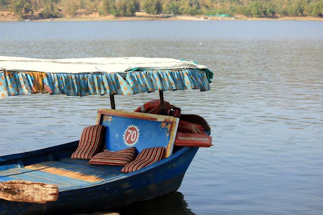 Boat ride on lake