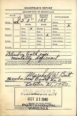 William A. Glynn's draft card WWII https://jollettetc.blogspot.com
