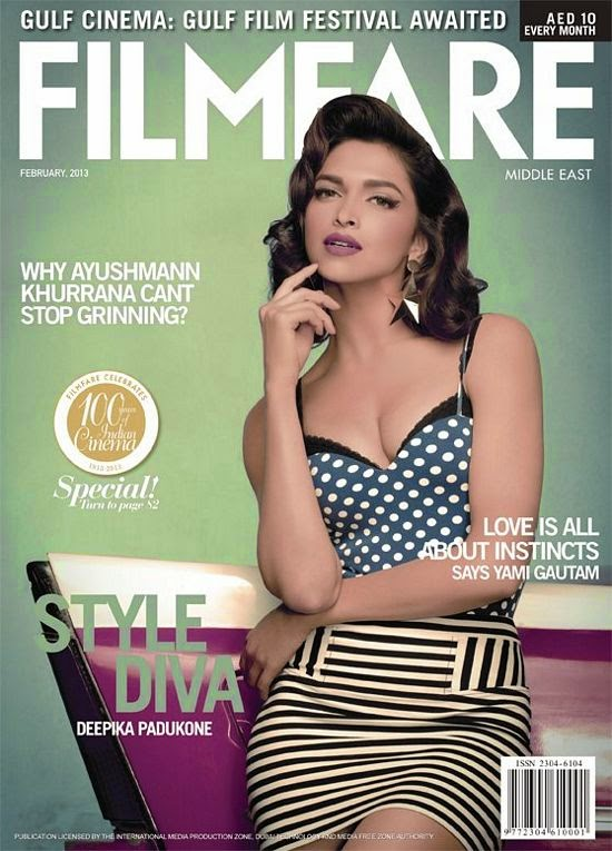 Deepika Padukone in Filmfare Middle East Magazine