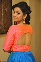 Nithya Shetty in Orange Choli at Kalamandir Foundation 7th anniversary Celebrations ~  Actress Galleries 064.JPG