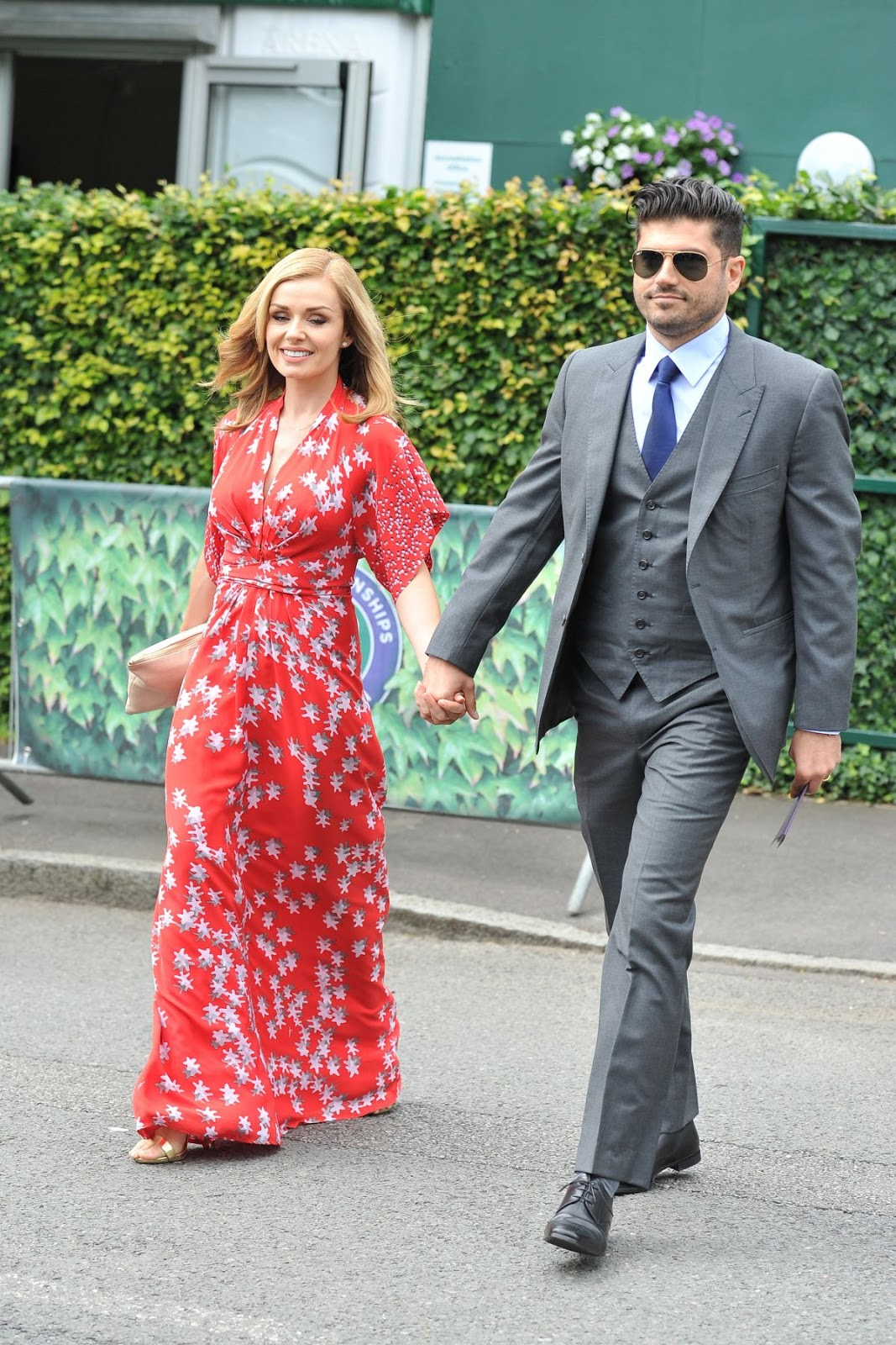 HQ Photos of Welsh Singer Katherine Jenkins out with husband in London