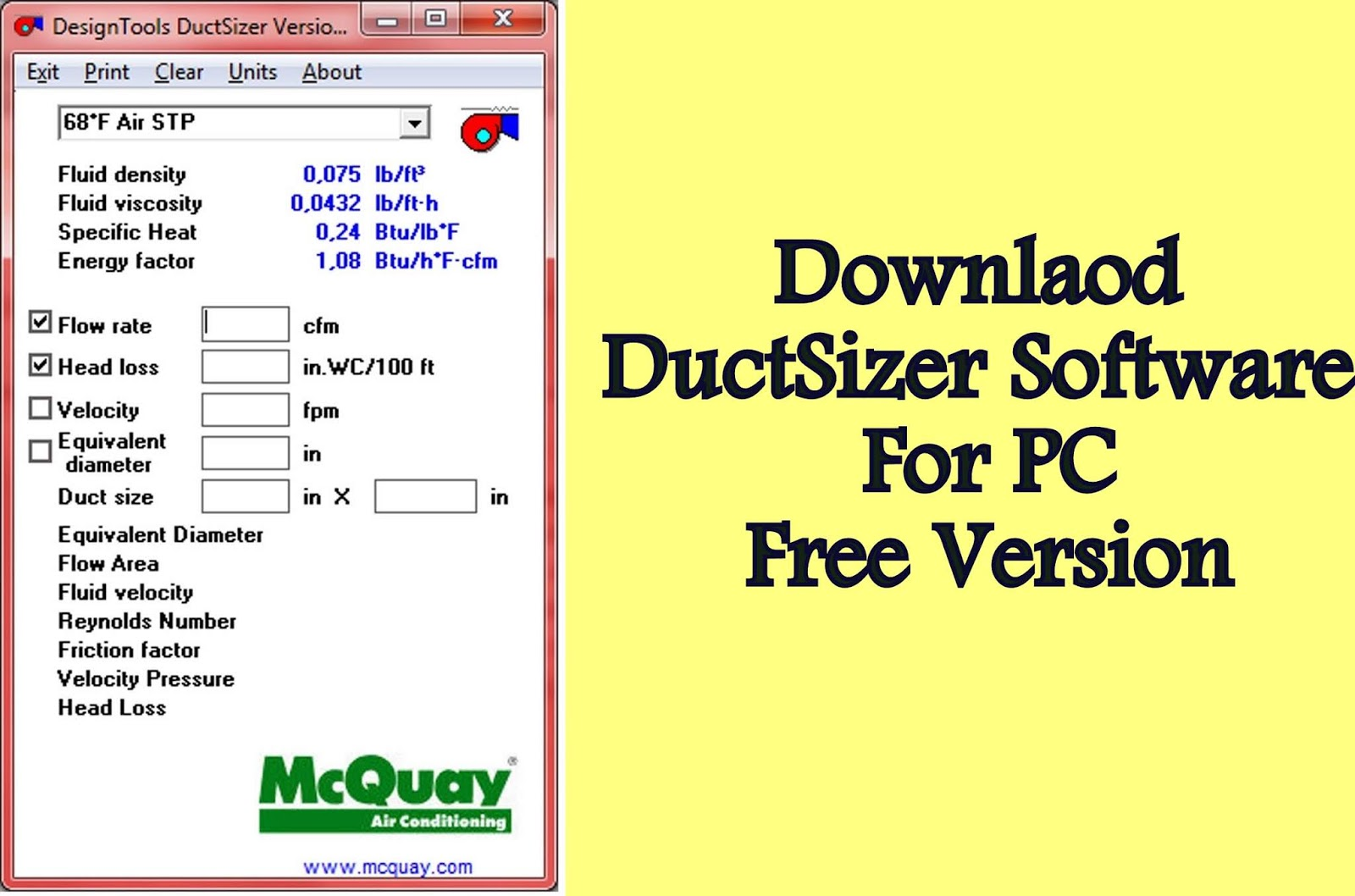 HowMechanismWorks ?: Download Duct Sizer Calculator Software - Free