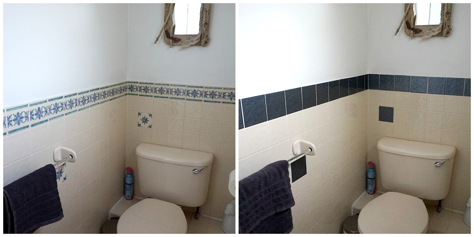 DIY Bathroom Decoration | Tile Stickers - Jenna Suth