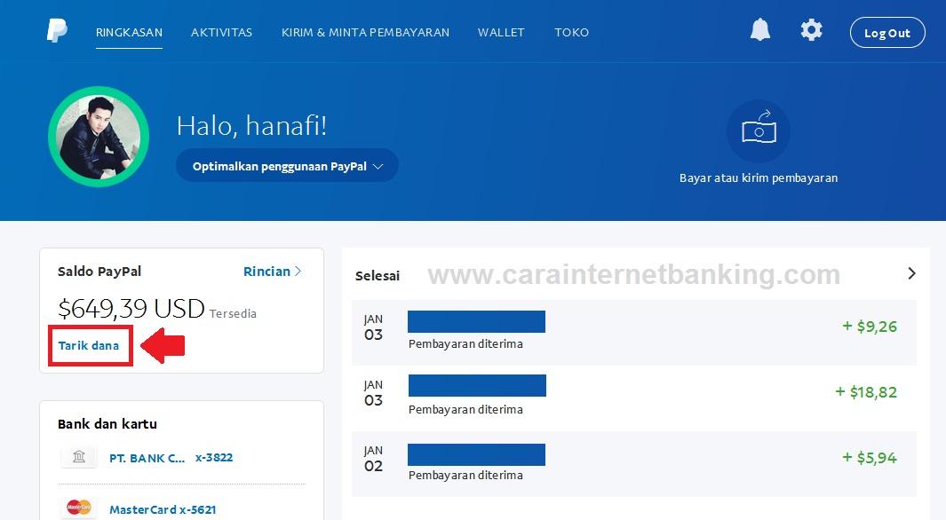 CARA MENGAMBIL UANG DI PAYPAL UNVERIFIED KE REKENING BANK