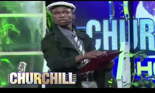 Churchill comedian Emmanuel Makori in the comedy show. PHOTO | Courtesy