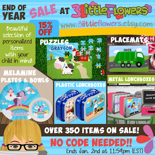 End of year sale!!!!!!!!  ~ 3 Little Flowers - The Blog