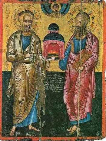 «Πέτρος (1) μαθητεύει την Ρώμην. Παύλος