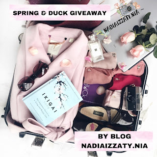 SPRING & DUCK GIVEAWAY BY BLOG NADIAIZZATY.NIA, Blogger Giveaway, Blog, Peserta, Hadiah, 2018,
