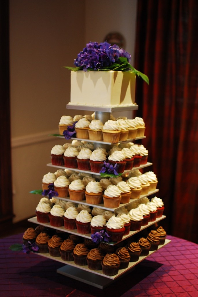 Mikes Amazing Stands: 6 tier cupcake stand painted silver