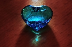Blaues Herz...