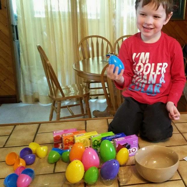 making jello eggs - copyright Chrystal Scales