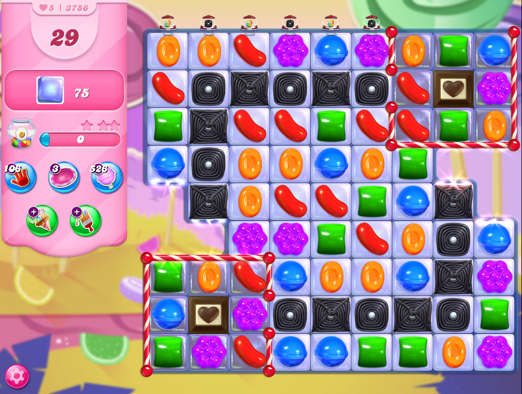 Candy Crush Saga level 3786