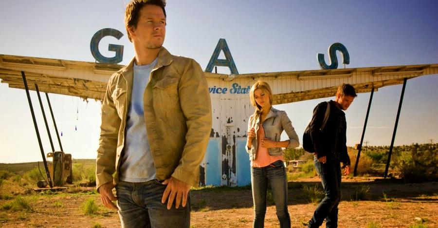 Jack Reynor, Nicola Peltz, Mark Wahlberg în Transformers Age Of Extinction
