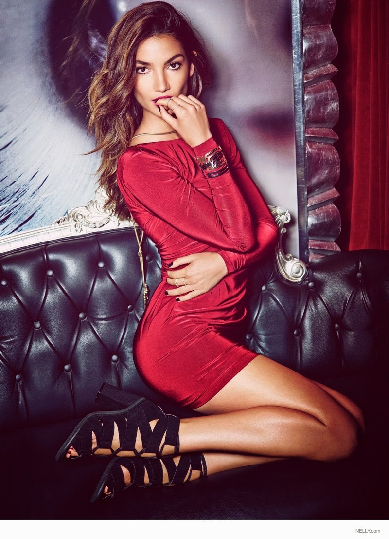 Lily Aldridge stars for the Nelly.com 'New Icons' Holiday 2014 Campaign
