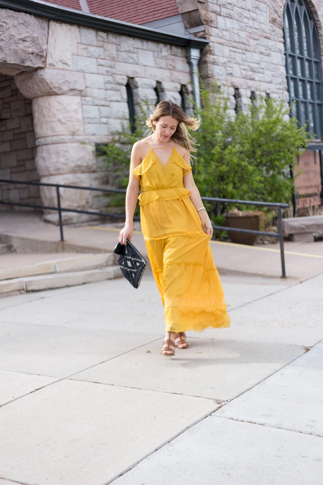 yellow summer maxi