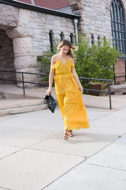 yellow summer maxi