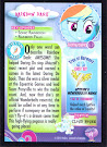 My Little Pony Rainbow Dash Series 3 Trading Card