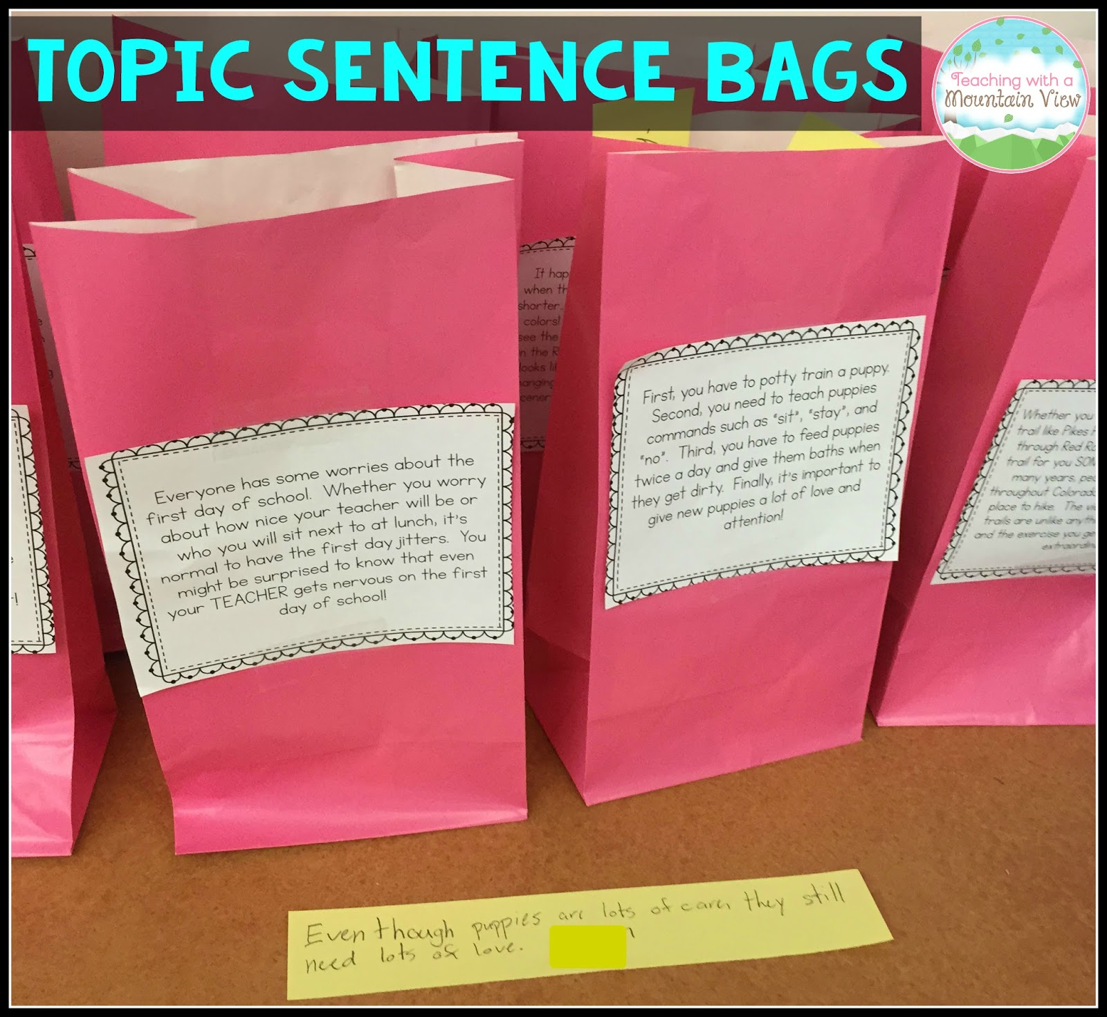 how to write a good topic sentence for kids