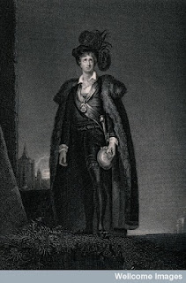 Kemble in the role of Hamlet, from Wellcome Images.