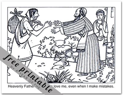 A year of fhe year 03 lesson 37 the prodigal son for Prodigal son coloring page for preschoolers