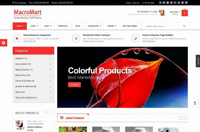 MacroMart - Responsive Supermarket WordPress Theme