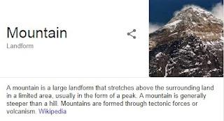 penngertian gunung