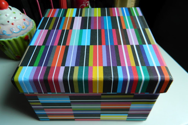 colourful square gift box